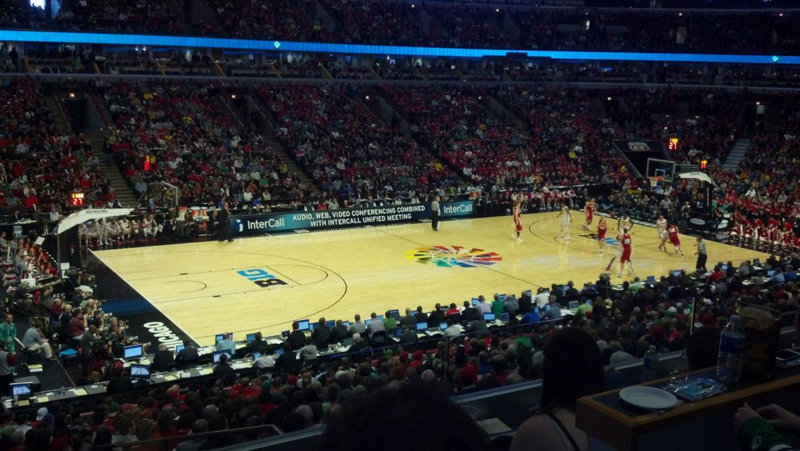 United Center during the 2013 Big Ten Basketball Tournament