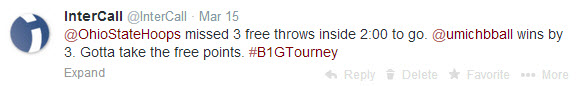 Missed Free throws bring down the Buckeyes at the Big Ten Tourney.